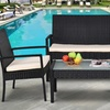 Costway Outdoor Patio Cushioned Furniture Set (4-Piece)