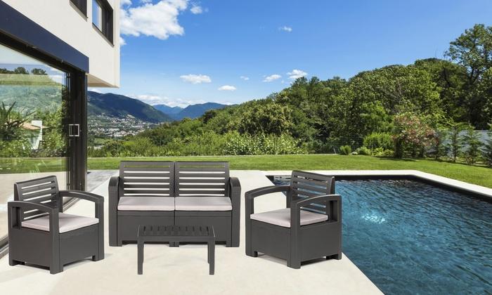 Set mobili da giardino nevada groupon goods for Groupon giardino