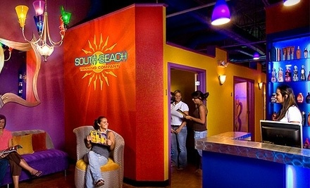 One Month of Unlimited Tanning in Level 1 or 2 Bed, or Two Spray Tans at South Beach Tanning Company (52% Off)