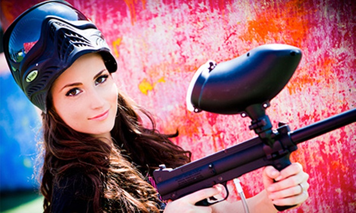 Paintball International - Multiple Locations: All-Day Paintball Package with Equipment Rental for 6 or 12 from Paintball International (Up to 82% Off)