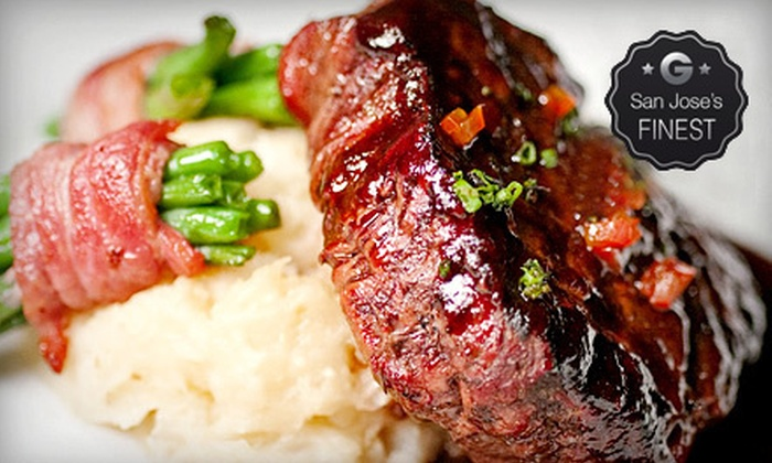 Bijou Restaurant & Bar - Downtown Hayward: Three-Course Prix Fixe French-Fusion Dinner with Champagne for Two or Four at Bijou Restaurant & Bar (Up to 70% Off)