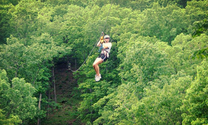 Eco Zipline Tours - Hermann: Easy Rider, Super Six, or High Flyer Zipline Tour with Frequent Flyer Card from Eco Zipline Tours (Half Off)