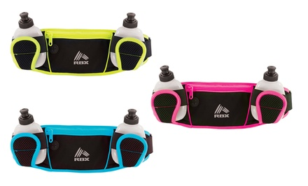 RBX Running Dual Water Pack with Yellow, Orange, Pink, or Blue Accent