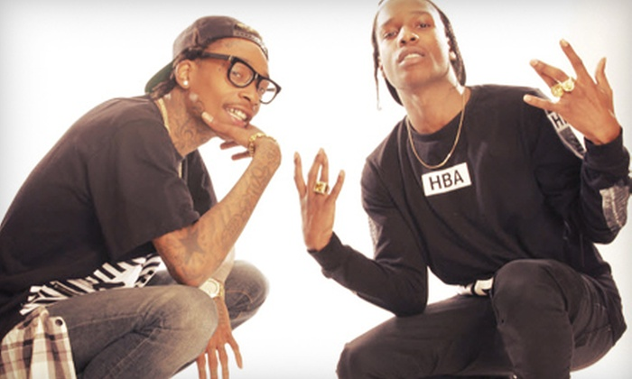 Under the Influence of Music Tour featuring Wiz Khalifa & A$AP Rocky - Cynthia Woods Mitchell Pavilion: Under the Influence of Music Tour featuring Wiz Khalifa & A$AP Rocky on Friday, July 26, at 6:30 p.m. (Up to 54% Off)
