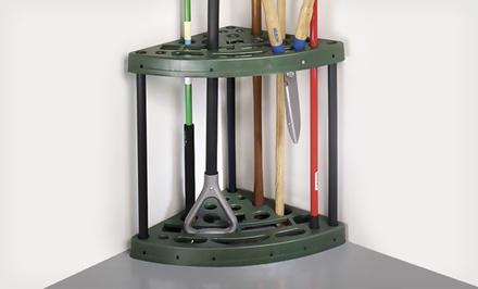 Yard Tool Corner Storage Rack with 18 Slots