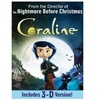 Coraline with Anaglyph 3D Version on DVD