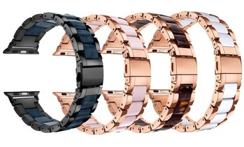 LUXE Apple Watch Series 1-5 Resin & Stainless Steel Band Bracelet