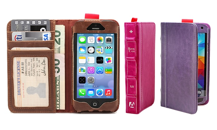 Aduro BookCase Folio and Wallet for iPhone or Samsung Galaxy: Aduro BookCase Folio and Wallet for iPhone or Samsung Galaxy