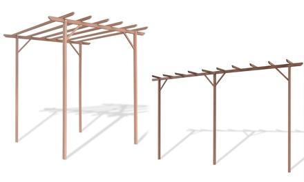 Pérgola marrón de madera plástica, disponible en 2 medidas