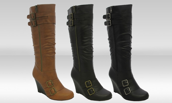 Yoki Bonita Wedge Boots: Yoki Bonita Wedge Boots. Multiple Styles Available. Free Returns.