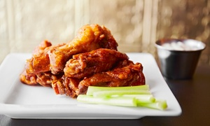 The Wing Factory: Boneless Wings, Burgers, and Fish for Two or Four at The Wing Factory (Up to 60% Off)