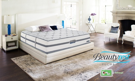 Simmons Beautyrest Recharge Bayshore Plush Mattress Set. Free White Glove Delivery. 20-Year Limited Warranty.