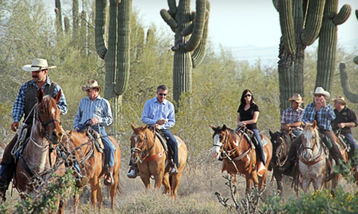 Macdonald Ranch - Scottsdale: Two-Hour Horseback Trail Ride for One or Two at Macdonald Ranch (Up to 54% Off)