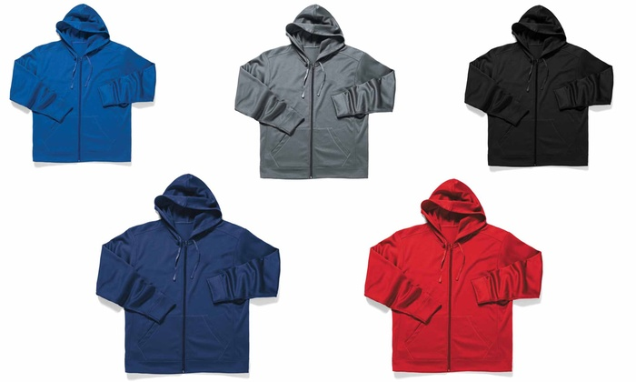 Zorrel Men's Polyfleece Full-Zip Hooded Jacket