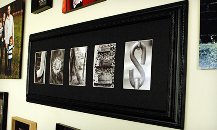 Frame The Alphabet: Standard or Deluxe Custom Alphabet Frame from Frame The Alphabet (Up to 56% Off)