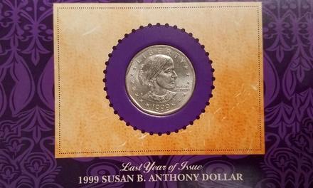Last Year of Issue 1999 Susan B. Anthony Dollar