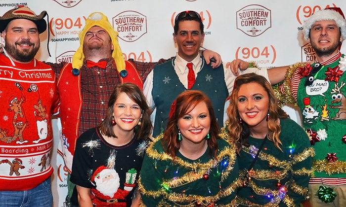 904 Happy Hour - Jacksonville: Ugly Sweater Bar Crawl for One or Two on Saturday, December 13 from 904 Happy Hour (Up to 43% Off)