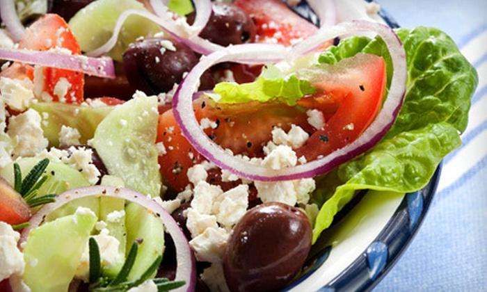Veranda Greek Cafe - Las Colinas: Mediterranean Cuisine at Veranda Greek Cafe (Half Off). Two Options Available.