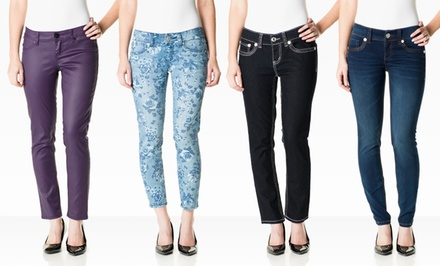 Seven7 Petite Women's Denim. Multiple Styles Available. Free Returns.