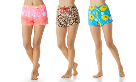 3-Pack Women's Fluffy Lounge Shorts