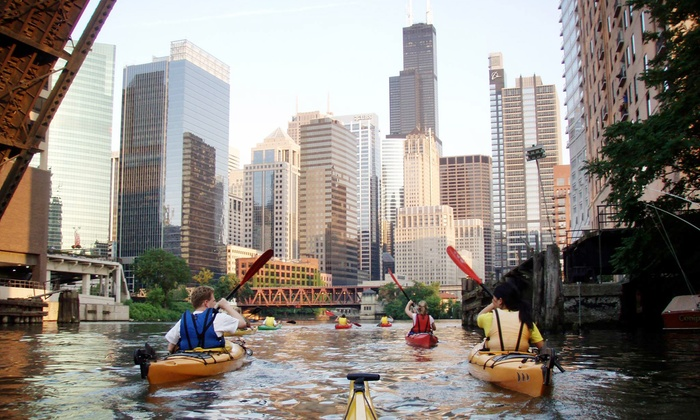 Kayak Chicago - Multiple Locations: Family-Friendly Pumpkin Paddle, Haunted Paddle, or Octoberfest Paddle from Kayak Chicago (Up to Half Off)