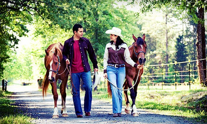 Rocking M Ranch - Garden City: Private Horseback Trail Ride for Two or Four at Rocking M Ranch (Up to 52% Off)