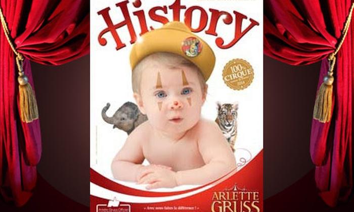 Cirque Arlette Gruss - Place des Quinconces: Une place pour découvrir le nouveau spectacle « History ! » du cirque Arlette Gruss avec visite de la ménagerie dès 12 €