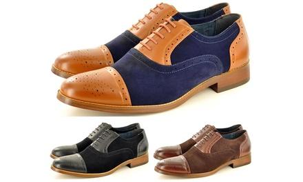 Two-Tone Men's Brogue Shoes