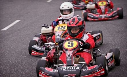 $59 for a Go-Karting Package with Rental Equipment and Food from kartSTART.ca ($250 Value). Three...