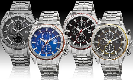 Joshua & Sons Men's Quartz Multifunction Bracelet Watch. Multiple Colors Available. Free Returns.