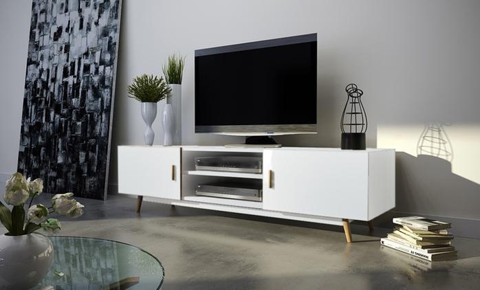 Meuble TV Rivano, 2 coloris au choix dès 99.90€ (jusqu'à 56% de réduction)