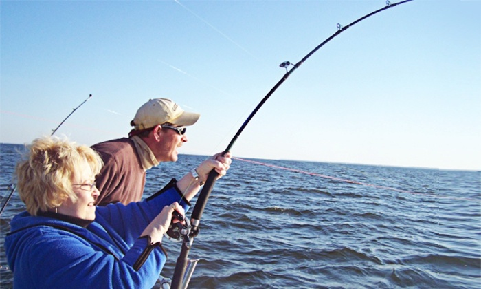 Chesapeake Bay Fishing Charters - Queen Anne Marina- Kent Island: $179 for an All-Inclusive Full-Day Fishing Trip for Two from Chesapeake Bay Sport Fishing ($300 Value)