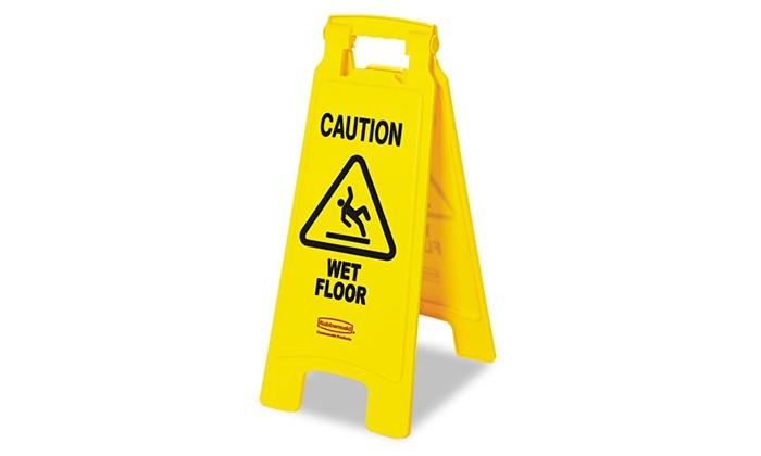 "Rubbermaid Commercial ""Caution Wet Floor"" Sign: Rubbermaid Commercial ""Caution Wet Floor"" Sign"