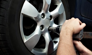Manchester Tyre Trading LLC: Car Wheel Balancing With Complimentary Wheel Alignment Check from AED 49 at Manchester Tyre Trading (Up to 61% Off)