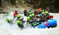 """Wildwasser-Rafting-Tour """"Imster Schlucht"""" mit Nutzung der Action-Wiese von Wiggi-Rafting (36% sparen)"""