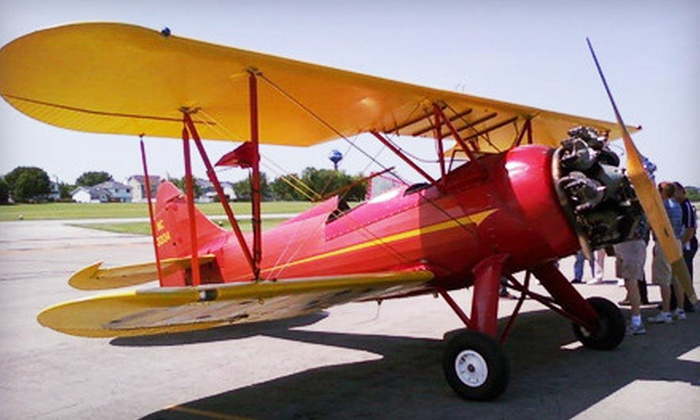 A & M Aviation - Bolingbrook: $199 for a 30-Minute Biplane Ride for Two from A & M Aviation ($400 Value)