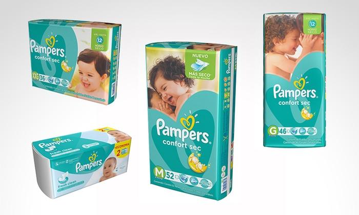 Pampers - Múltiples sucursales: Desde $640 en vez de $864 por packs de 3 Pampers con opción a Babywipes  para retirar en sucursal