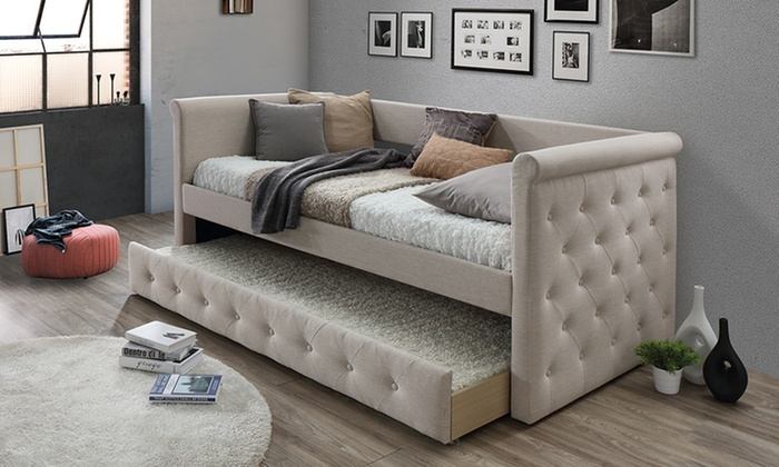 Up To 41 Off On Alena Tufted Daybed With Trundle Groupon Goods