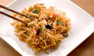 Wu's Asian Bistro: $25 for an Asian Dinner for Two with Appetizer and Entrees at Wu's Asian Bistro (Up to $37.85 Value)