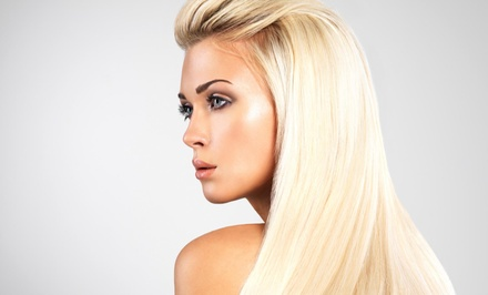 Haircut Package with Options for Partial or Full Highlights at Eutopia Beauty Studio (Up to 69% Off)