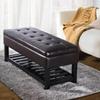 Simpli Home Cosmopolitan Tufted Storage Bench
