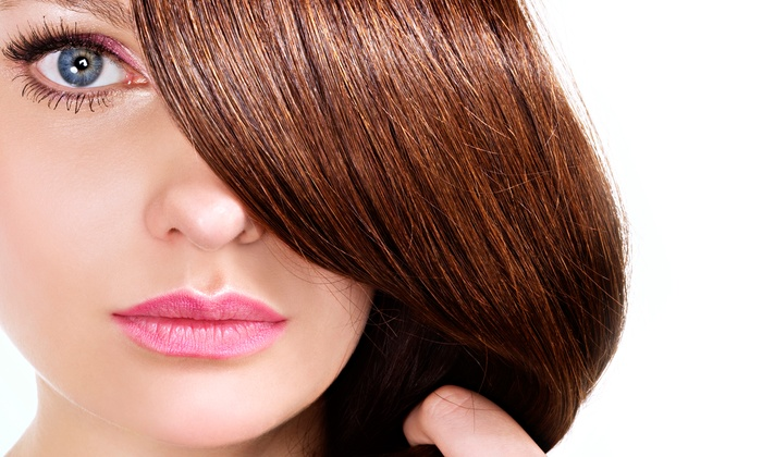 Fringe Salon - Livonia: Haircut, Style, and Conditioning Treatment with Option for Partial Highlights at Fringe Salon (54% Off)