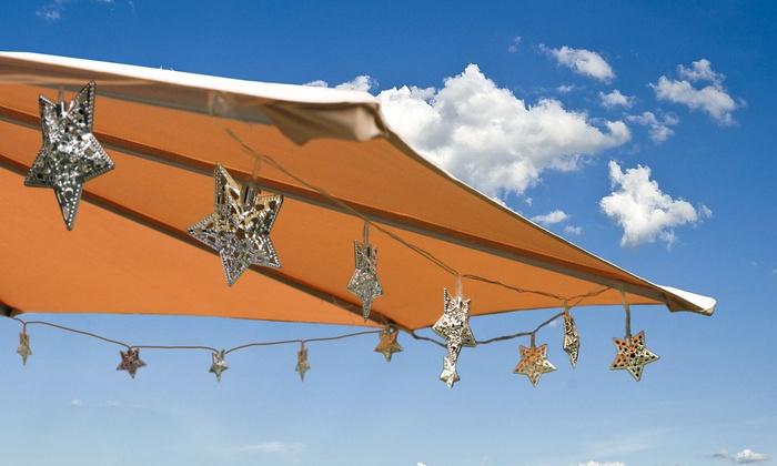 Solar Minimetal Decorative Patio Lights Multiple Style Options