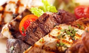 Restaurant Samaria: Griechisches 5-Gänge-Fleischplatten-Menü inkl. Ouzo für Zwei oder Vier im Restaurant Samaria ab 33,33 € (56% sparen*)