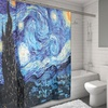 """""""The Starry Night"""" Museum Collection Fabric Shower Curtain"""