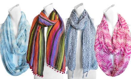 Muk Luks Jersey or Printed Scarves. Free Returns.