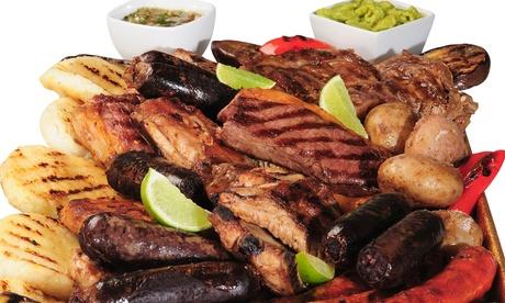 Cocina mediterránea  para dos o cuatro personas con entrante, principal, postre y bebida desde 19,90 € en la Alpujarra
