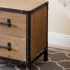 Abbyson Living Industrial Two-Drawer Nightstand