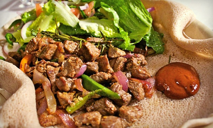 Ethiopiques - Downtown Toronto: Ethiopian Dinner for Two or Four at Ethiopiques (Up to 57% Off)