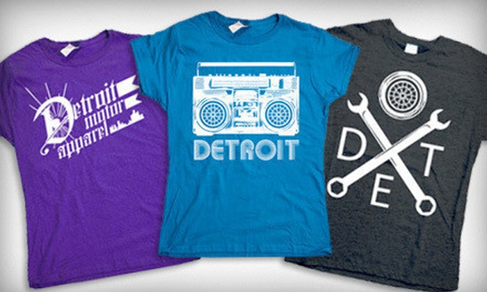 Detroit Motor Apparel: One or Two Detroit-Inspired T-Shirts from Detroit Motor Apparel (Up to 52% Off)